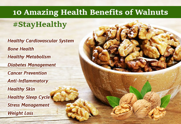 The Health Benefits of Walnuts and Peanuts